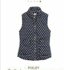 Pixley polka dot puffer vest